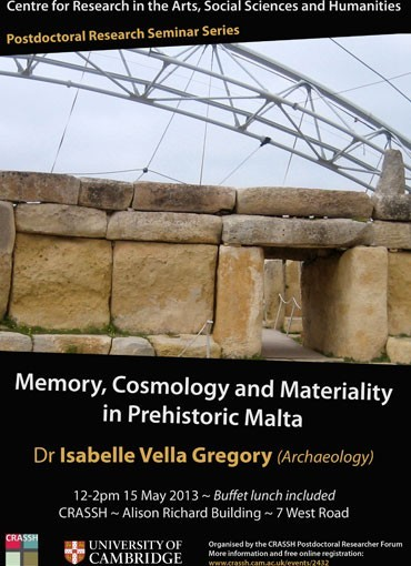 Memory, Cosmology and Materiality in Prehistoric Malta