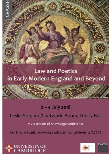 Law and Poetics in Early Modern England and Beyond