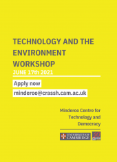 The Cost of Convenience - Technology and The Environment Workshop
