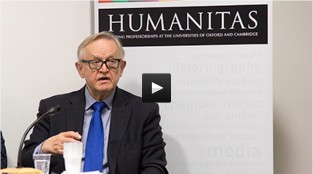 President Martti Ahtisaari - How can peace be made? Session Two