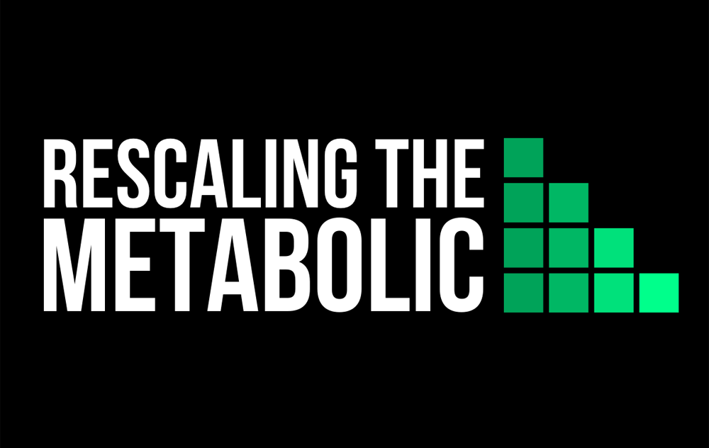 Rescaling the Metabolic network logo